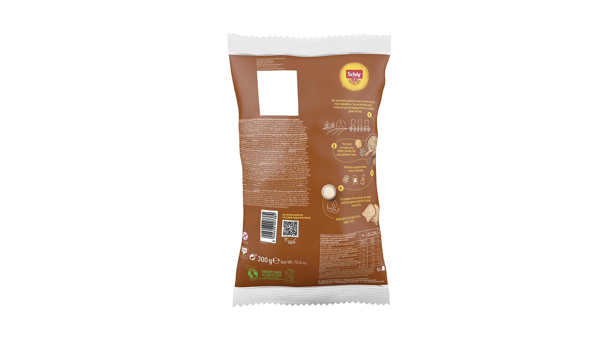 Bezglutenski kruh sa sjemenkama - Cereale del Mastro Panettiere