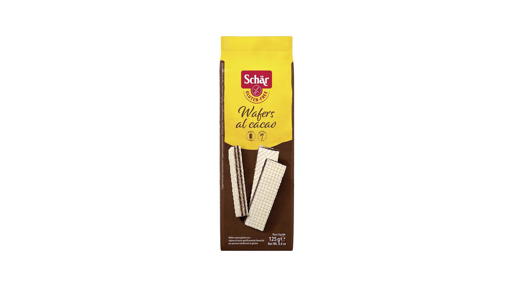 Bezglutenske napolitanke s čokoladom - Wafers al cacao